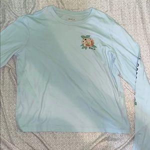 blue RVCA shirt from tillys